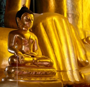 Greeting Card | Buddhist Themed | Gold Buddha & Giant Hand | #12 of 20