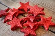 Rote Sterne 6 cm