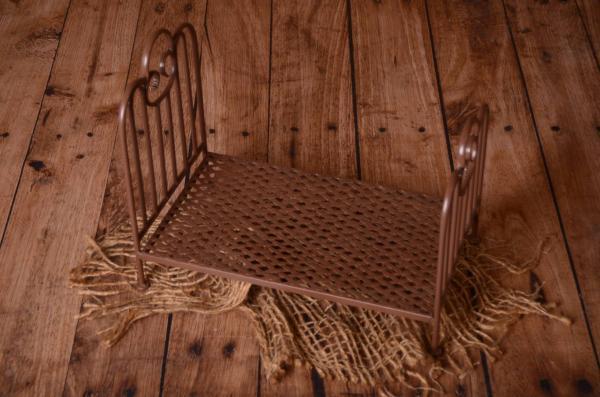 Cama vintage marrón 50 cm