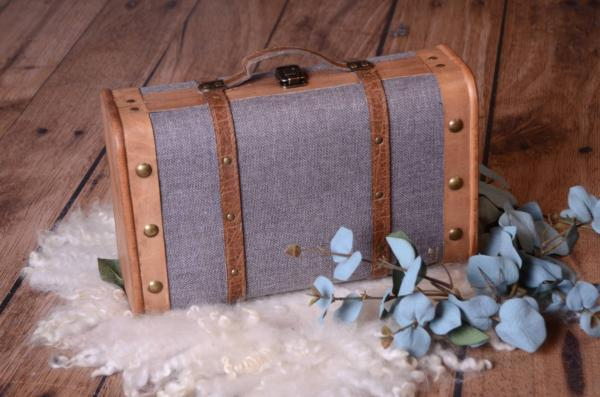 Grey rustic suitcase
