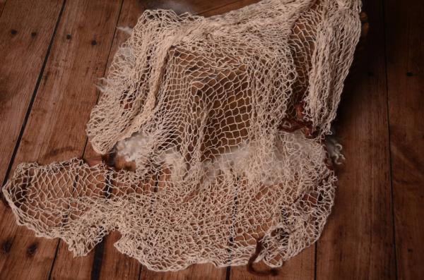 Beige fishing net