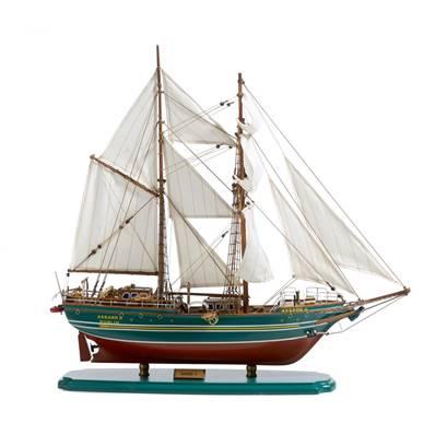 Maquette de voilier, modèle Goelette
