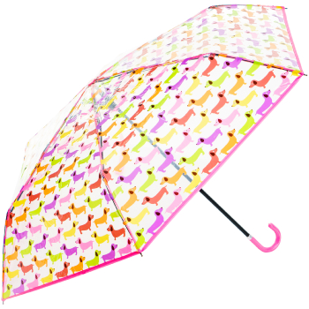 Susino Clear Mini Folding Umbrella - Multi Dogs